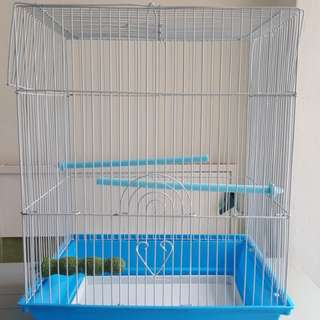 Bird Cage with 2 perch and 1 grip