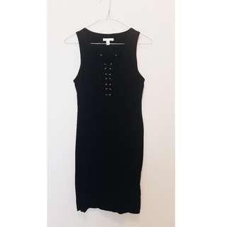 Black Kookai Cotton Mini Dress - Size 2 (AU10-12) *Never worn*