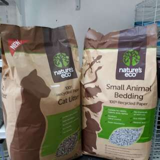 Nature's eco Cat litter & small animal bedding 30L