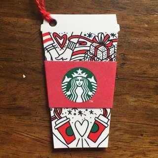 starbucks coffee cup card