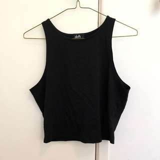 Dotti Black Crop