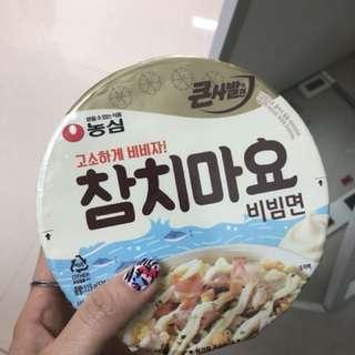 韓國 農心 吞拿魚蛋黃醬撈麵