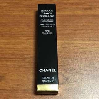 Chanel Lipstick - Le Rouge Crayon de Couleur Jumbo Longwear Lip Crayon (Colour: N6 Framboise)