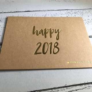 Happy 2018 Eco-friendly Card