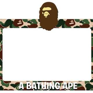 A Bathing Ape Camo Road Tax Sticker