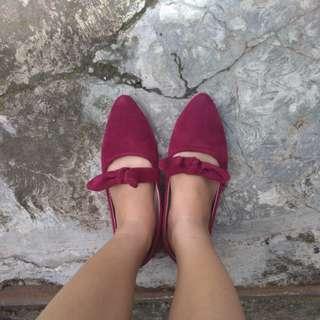 Flatshoes maroon