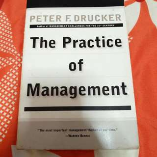 The practice of management by Drucker
