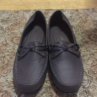 Dark gray shoes