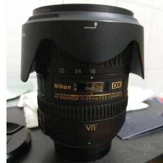 Nikon AF-S 16-85mm f3.5-5.6 G ED VR  鏡頭