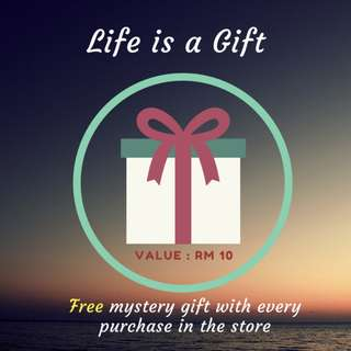 Free Mystery Gift with any purchase from Bido and Bido Store Value up to RM 10