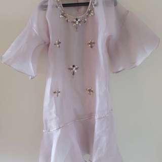 Preloved CERA bloom dress in Grey