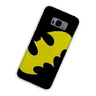 Batman Logo Yellow Samsung Galaxy S8 Custom Hard Case