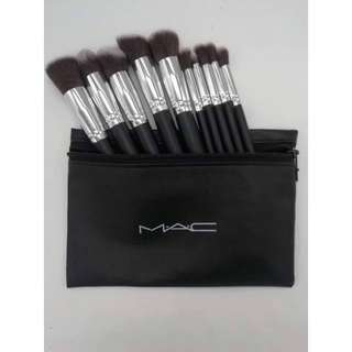 Mac 10pc brush with bag