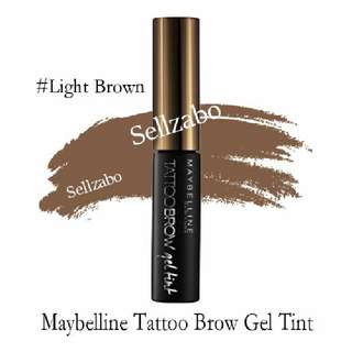 🆕Maybelline : Light Brown Colour Tint My Brows Gel Eyebrow Tattoo Eyes Makeup Cosmetics Sellzabo