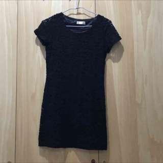 黑色合身裙