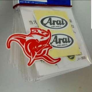 Arai Visors Complete Shield Stickers