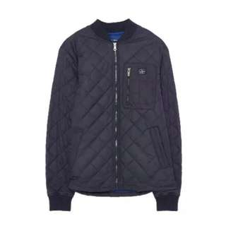 Pull & Bear Navy Padded Unisex Jacket