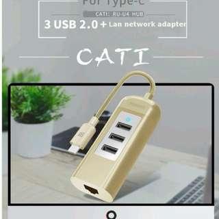 Remax RU-U4 Type-C 3 /USB Hub   $18.9/$15.9