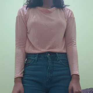Forever 21 Thin Pink Sweater