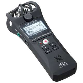 Zoom H1N Handy Recorders. The new Zoom H1n's X/Y microphones capture high-quality stereo sound, supporting up to 24-bit audio at sampling rates of 44.1, 48, or 96 kHz in WAV and various MP3 formats.
