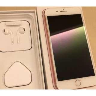 超新淨粉紅色iphone 7 plus 128gbs