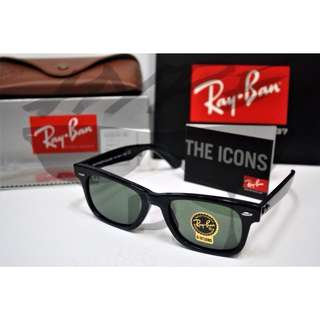 Authentic Ray Ban Wayfarer Square RB2151 901 52MM Medium.
