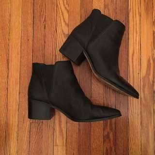 Saks Fifth Avenue Block Heel Boots - Women's Size 9