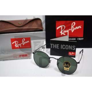 Authentic Ray Ban Round Metal RB3447 002 50MM