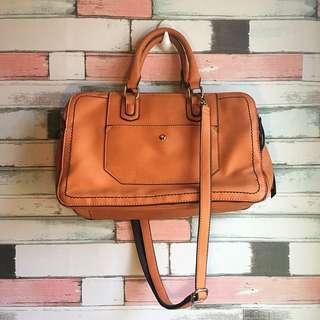 Spacious Brown sling/ hand bag