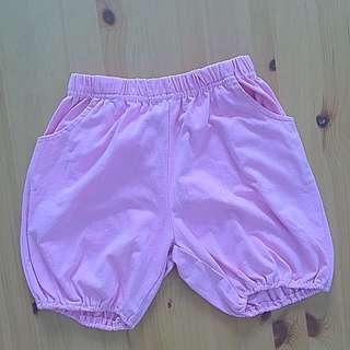 Puff shorts pink celana pendek