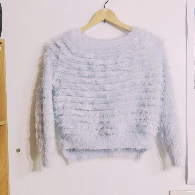 ⭐1/24 23:59前出價完成,價格85折再免運⭐水藍柔軟毛衣