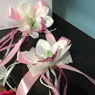 2pcs orchids curtain tie back / bridal / entourage door knob