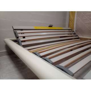 Queen Bed Frame White - Swiss Made (Used)