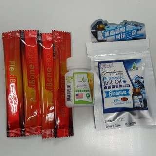 健盈莱 保骨素/保肝丸/磷蝦油丸/健康食品