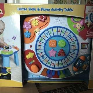 WinFun Letter Train & Piano Activity Table