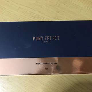 pony effect metal brush plate