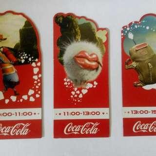 可口可樂快樂工廠大磁石貼,燙畫,胸章,打氣棒(一套)。如果查詢或購買,請留下聯繫電話,!謝謝合作