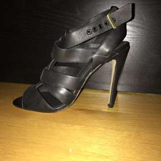 TOPSHOP LEATHER HEELS SIZE 6