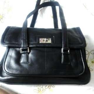 全真皮 Agnes B Shoulder Bag