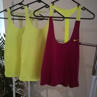 Nike Dri Fit Active Wear Tops - Size XS & S