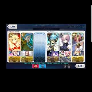 FGO NA End Game Account