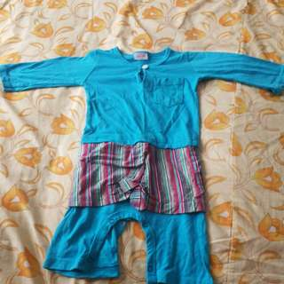 Baby baju melayu romper w/ samping