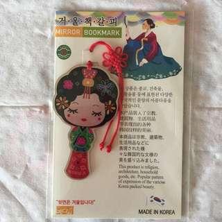 Korea bookmark with mirror