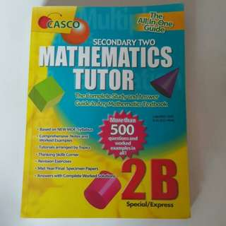 FIXED PRICE📬Almost Brand New Casco Secondary 2 Mathematics Tutor The Complete Study And Answer Guide To Any Mathematics Assessment Book