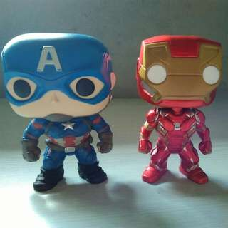 Iron Man & Captain America (Funko Authentic) Civil War Version