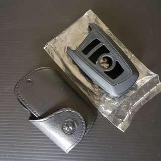 BMW Leather Keychain.