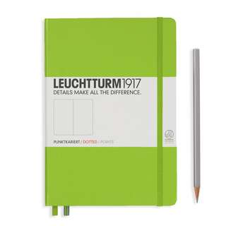 Leuchtturm A5 Medium Hardcover Notebook Dotted/ Ruled Lime (317567)