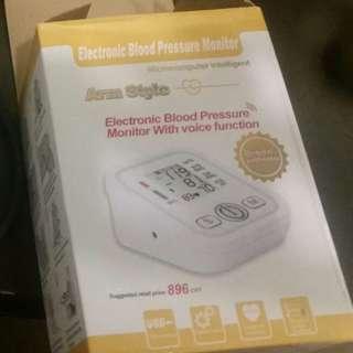 Unused blood pressure monitor