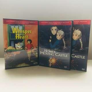 Studio Ghibli Howl's Moving Castle & Whisper Of The Heart DVDs