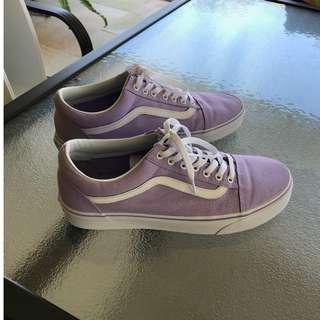 Size 10 Lavender Old Skool Vans
